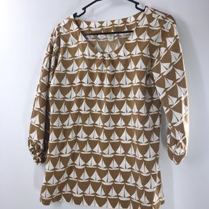 Novelty print old Navy blouse